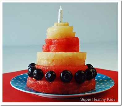 Birthday Party Fruit Cake Fruit cakes Healthy birthday and