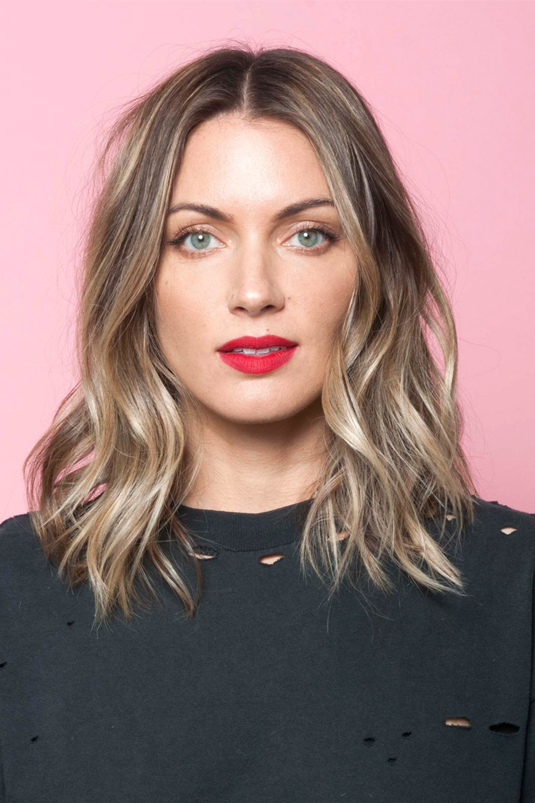 this is the secret to a perfectly messy long bob ruby woo long