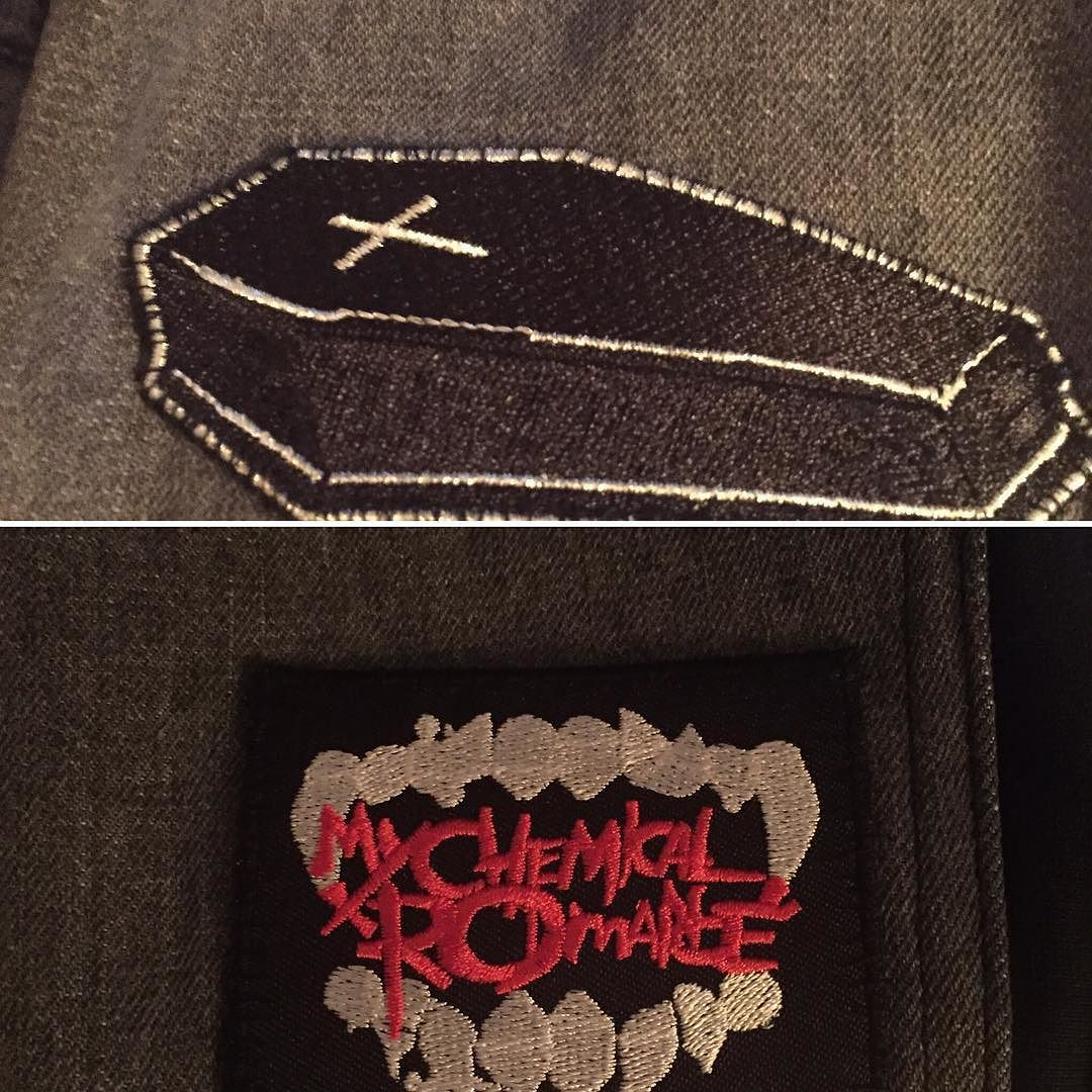 a Set of Three My Chemical Romance Patches Sew On /& Iron On Badges