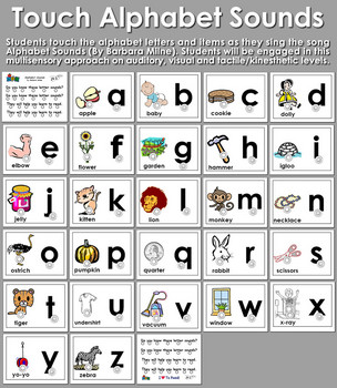 Touch Alphabet Sounds Alphabet Sounds Alphabet Letter Song