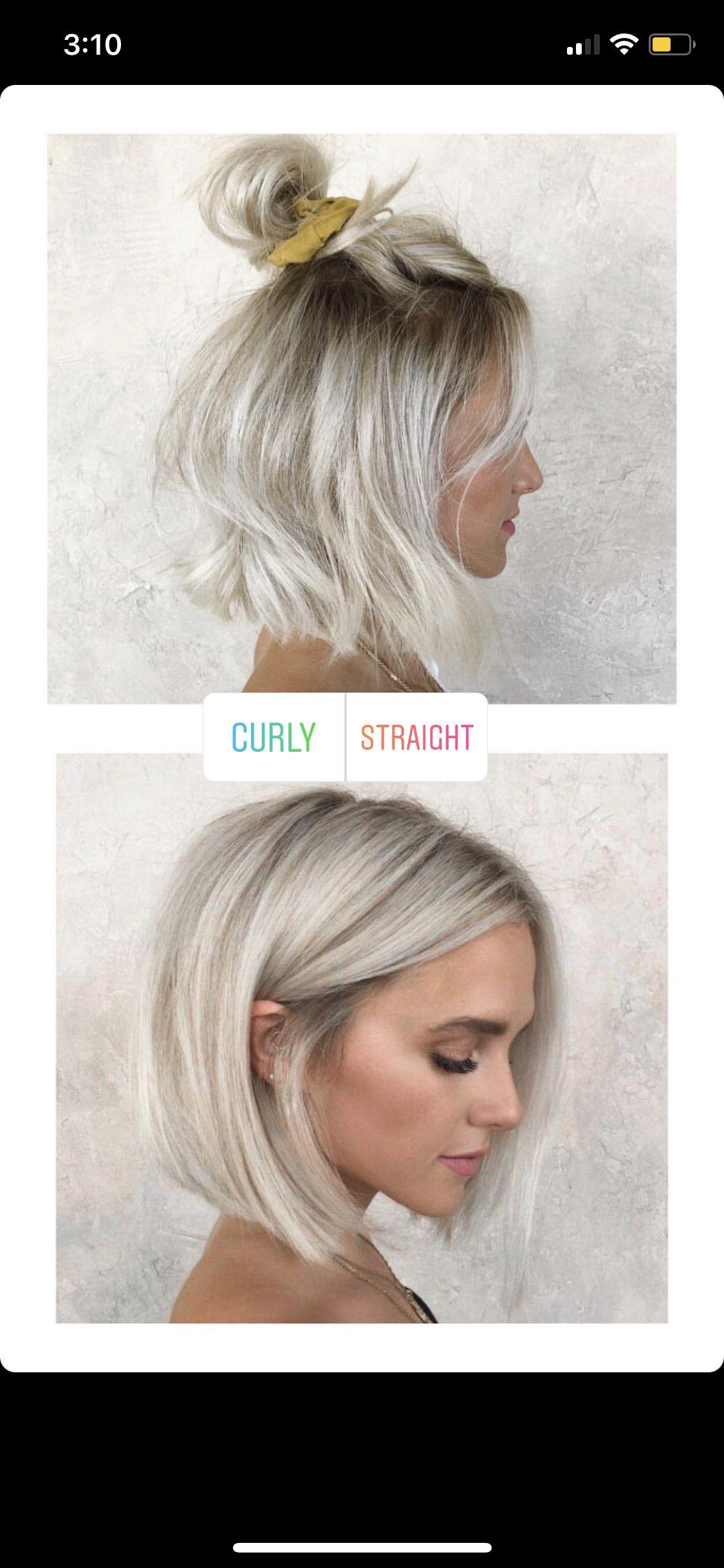 Blonde Bob Super Cute Both Ways Hair Pinterest Hair