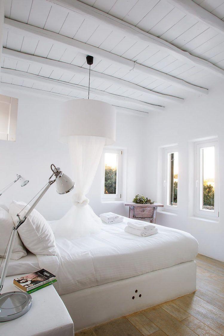 Badezimmer dekor in hobby lobby ländliches wohnen in einer modernen mediterranen villa auf mykonos