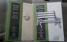 Memory box dies bundle. Madison Park Bench and Hanging Flower Basket. *NEW*