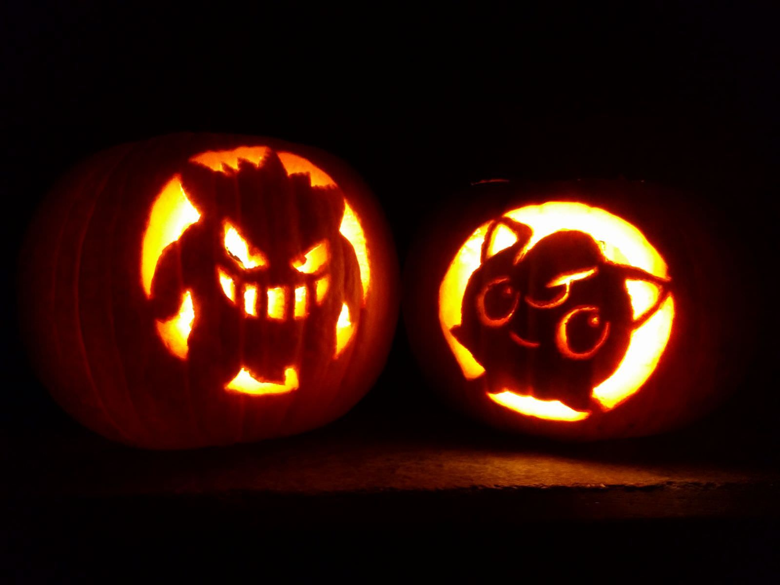 gengar jigglypuff pumpkins pokemon games pinterest pokemon