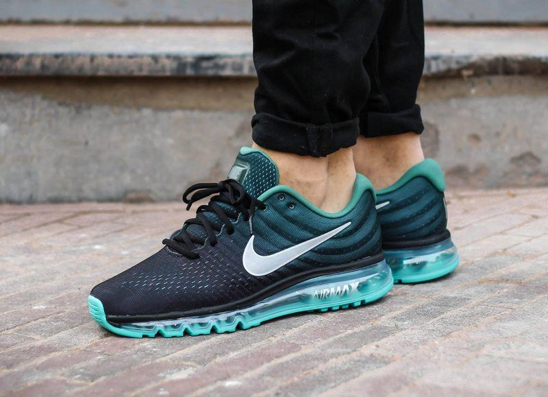 Nike Air Max 2017 Men Mesh Blackish Green running shoes that incorporates  the most flexibility of Max Air cushion and one-piece Flyknit knitting  vamp, ...