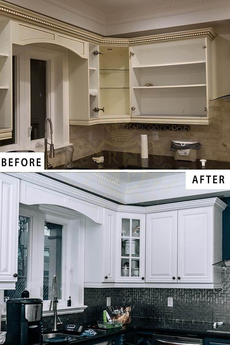 Repainting The Cabinet Doors And Bases Of An Old Kitchen In Toronto