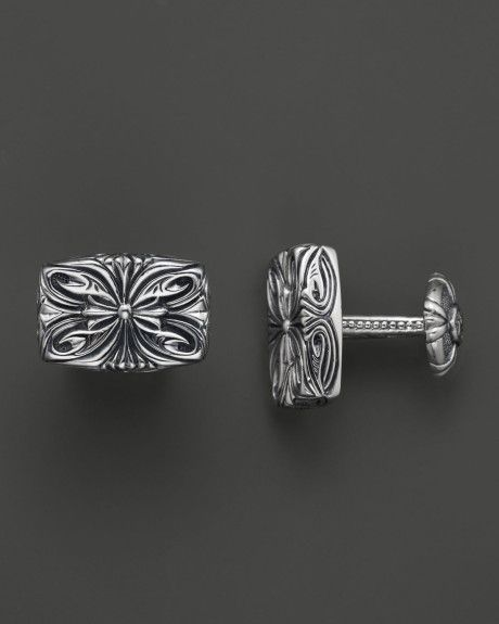 Family Co Jewelers Scott Kay B1602r310: Metallic Mens Sterling Silver Engraved Cufflinks