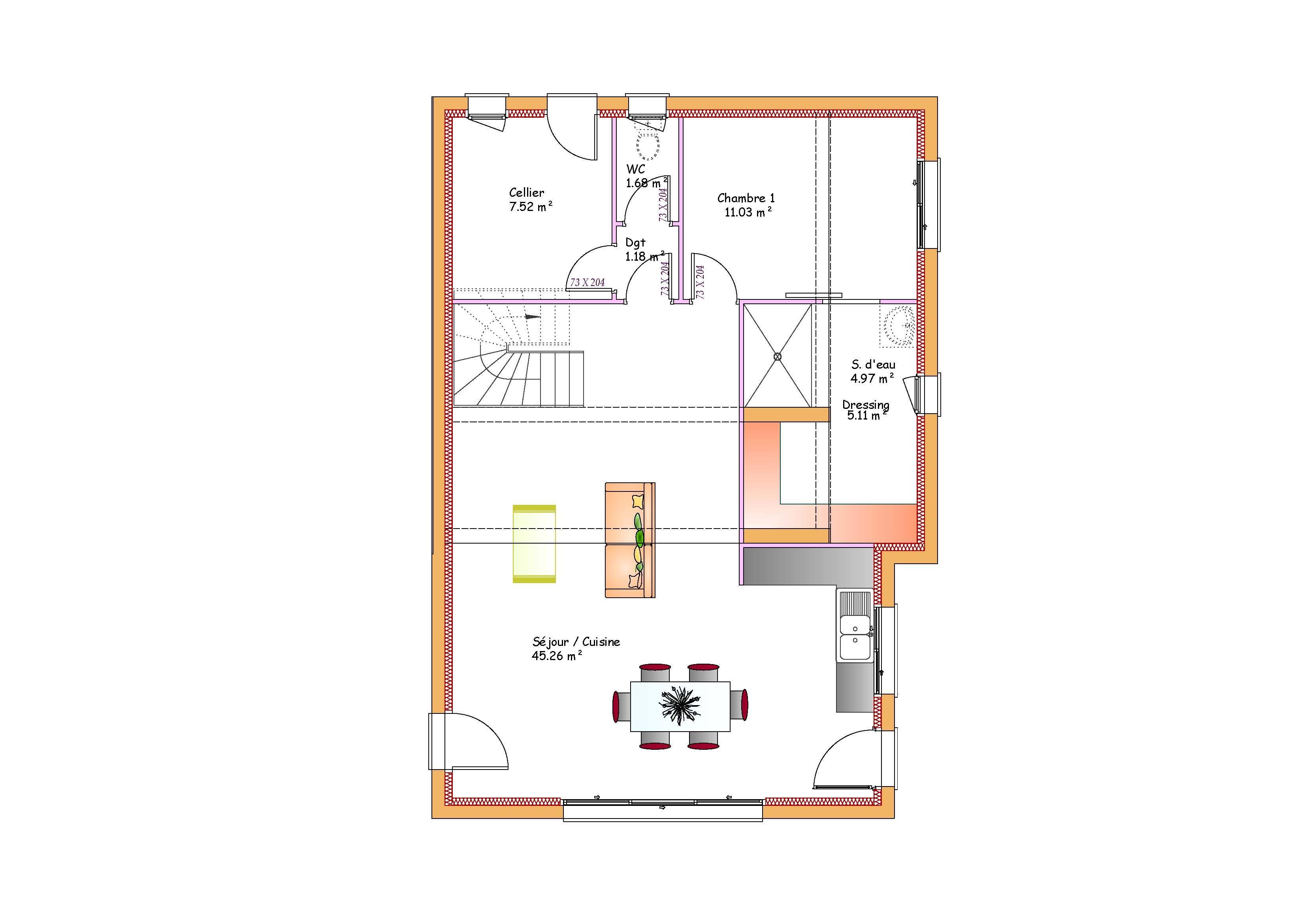 Modèles et plans de maisons > Modèle à étage Inspiration étage toit terrasse. Constructions ...