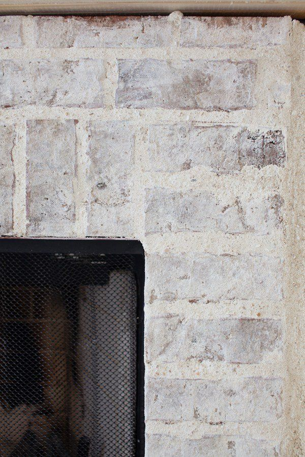 Mortar Washed Brick | Fireplace | Makeover | Decorating Ideas ...