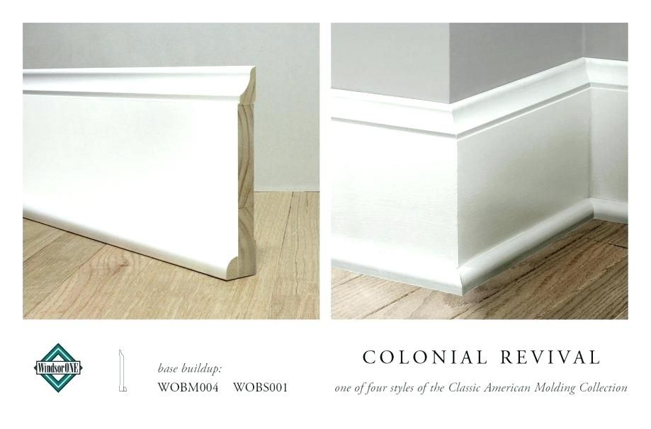 Baseboard Molding Size Colonial Revival Base Part Of The Classic Molding Collection Installing Foam Baseboard Moldings And Trim Farmhouse Trim Baseboard Styles