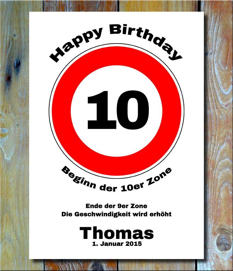 Tolles Verkehrsschild Als Geburtstagsgeschenk 10 Jahre