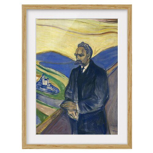 EDVARD MUNCH FRIEDERICH NIETZSCHE Painting Canvas art Prints