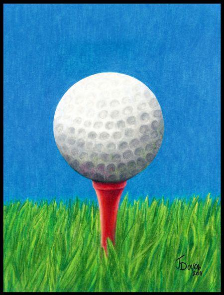 golf_ball_color_pencil_drawing_450.jpg (450×592)