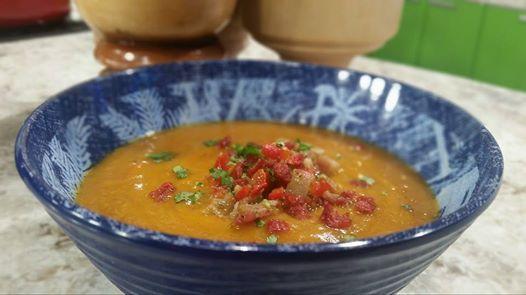 Sopa de batata, tocineta y coco (VIDEO) - Chef Edgardo Noel