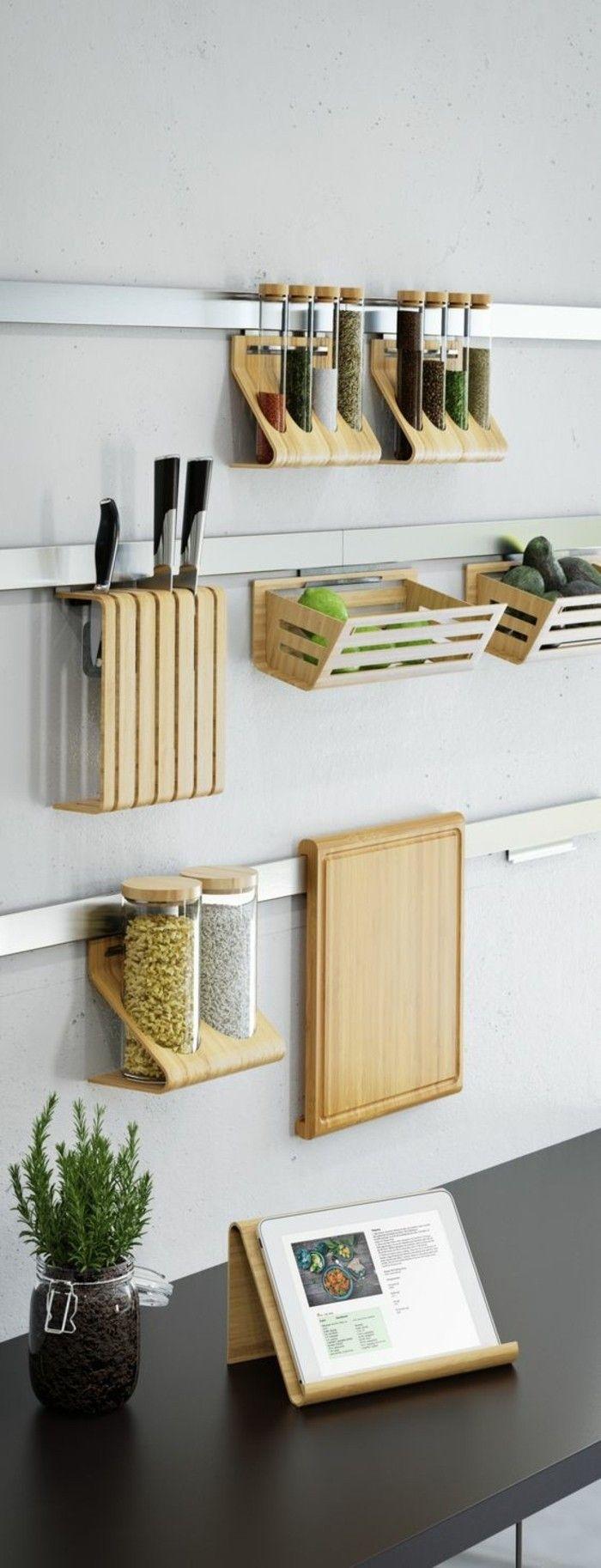 Le rangement mural, comment organiser bien la cuisine?  Rangement