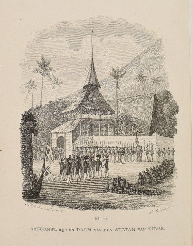 Istana Sultan Tidore Dalam Sketsa Kemungkinan Sekitar Abad Ke 18 Adalah Kerajaan Islam Yang Berpusat Di Wilayah Kota Tidore Maluku Sketsa Pesisir Indonesia