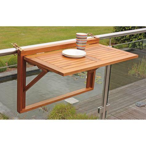 Neu Balkonhangetisch Balkontisch Aus Holz Klappbar Balkonmobel