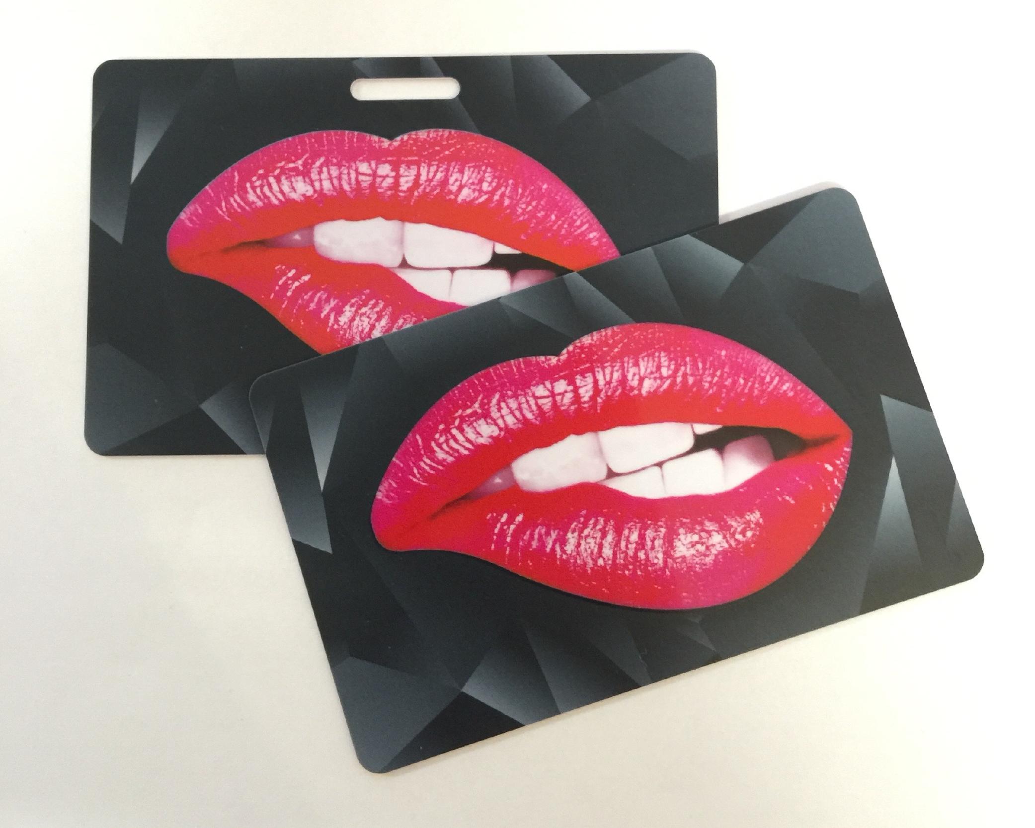 spot uv spot gloss plastic business card smooth matt
