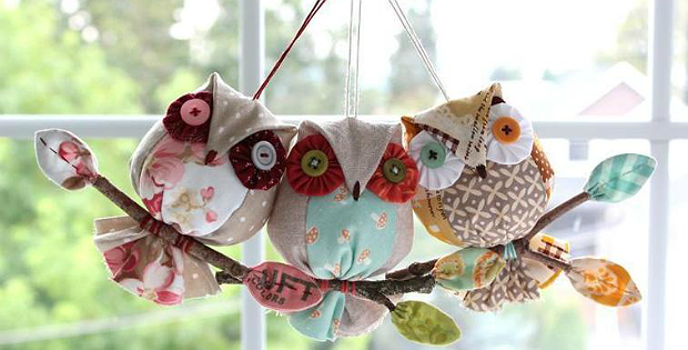 Easy Owl Ornaments for Christmas or All Year Quilting