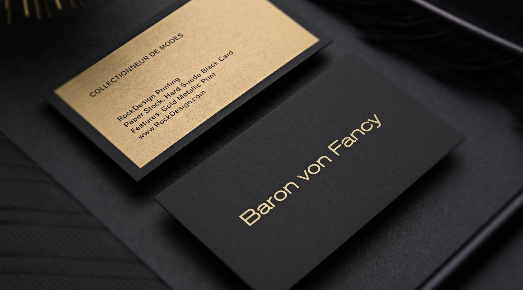 Hard Suede Business Cards Schwarze Visitenkarte