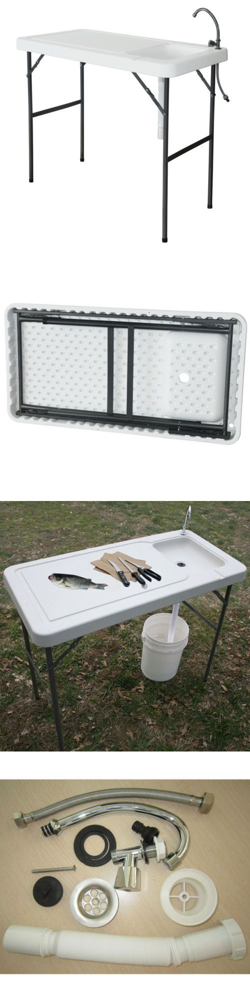 Fillet Tables And Cutting Boards 161823 Outdoor Fish Cleaning Camp Furniture W Faucet Board Table Portable Hdpe It Now Only 54 99 On Ebay