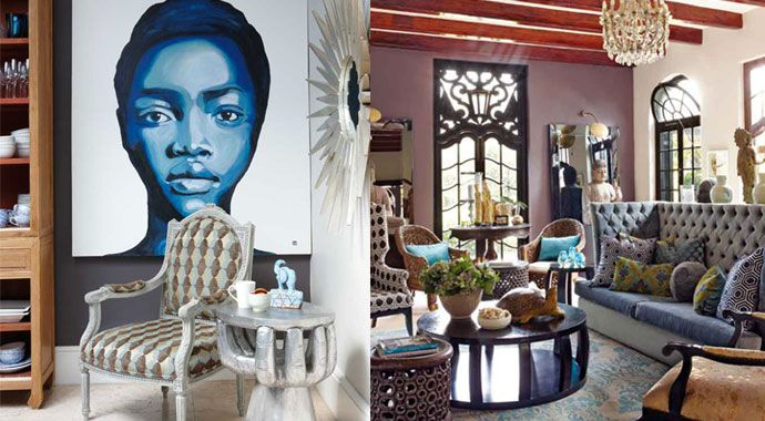 Afro-chic Constantia home