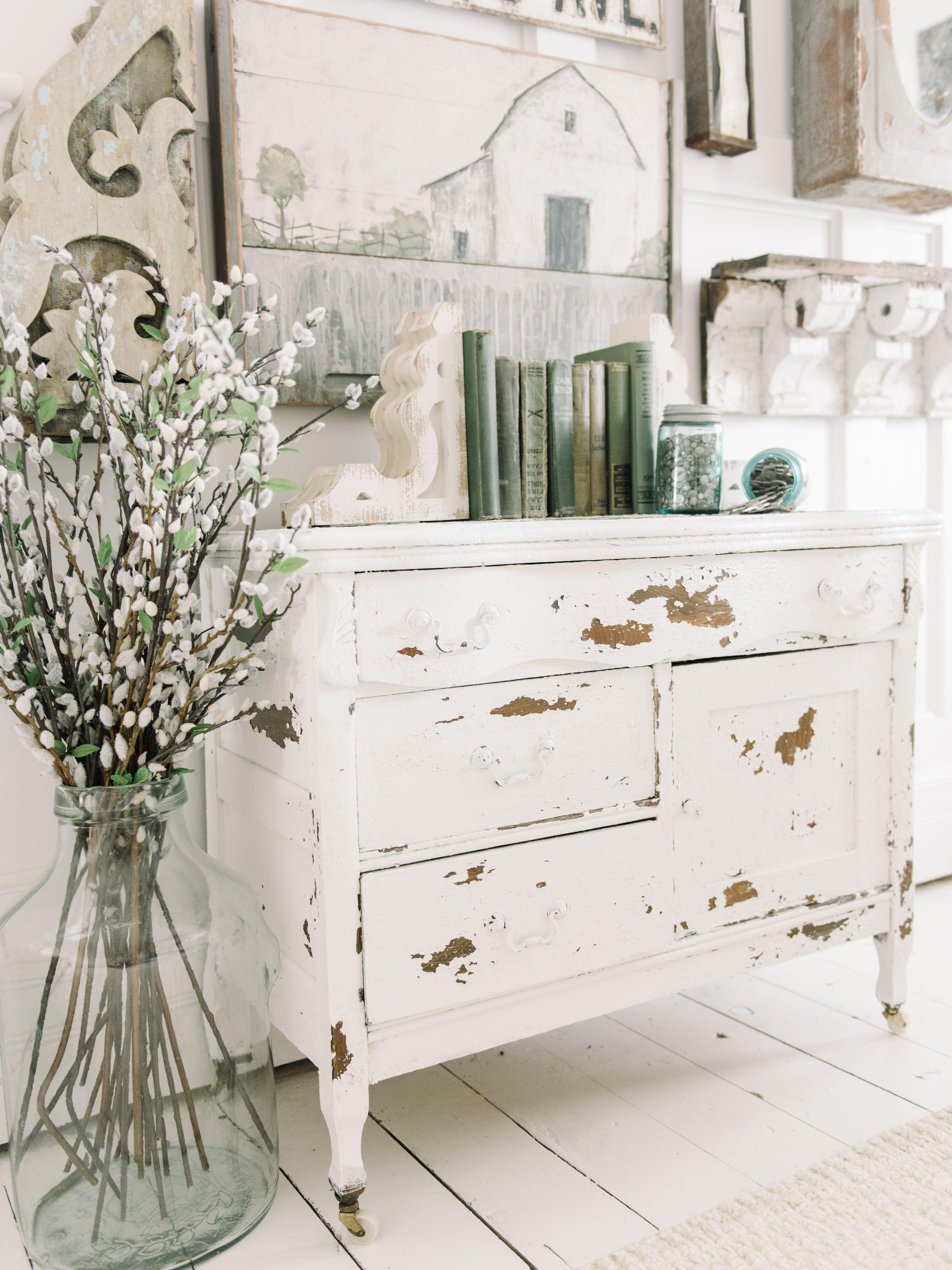 Chippy White Dresser with Salt Wash