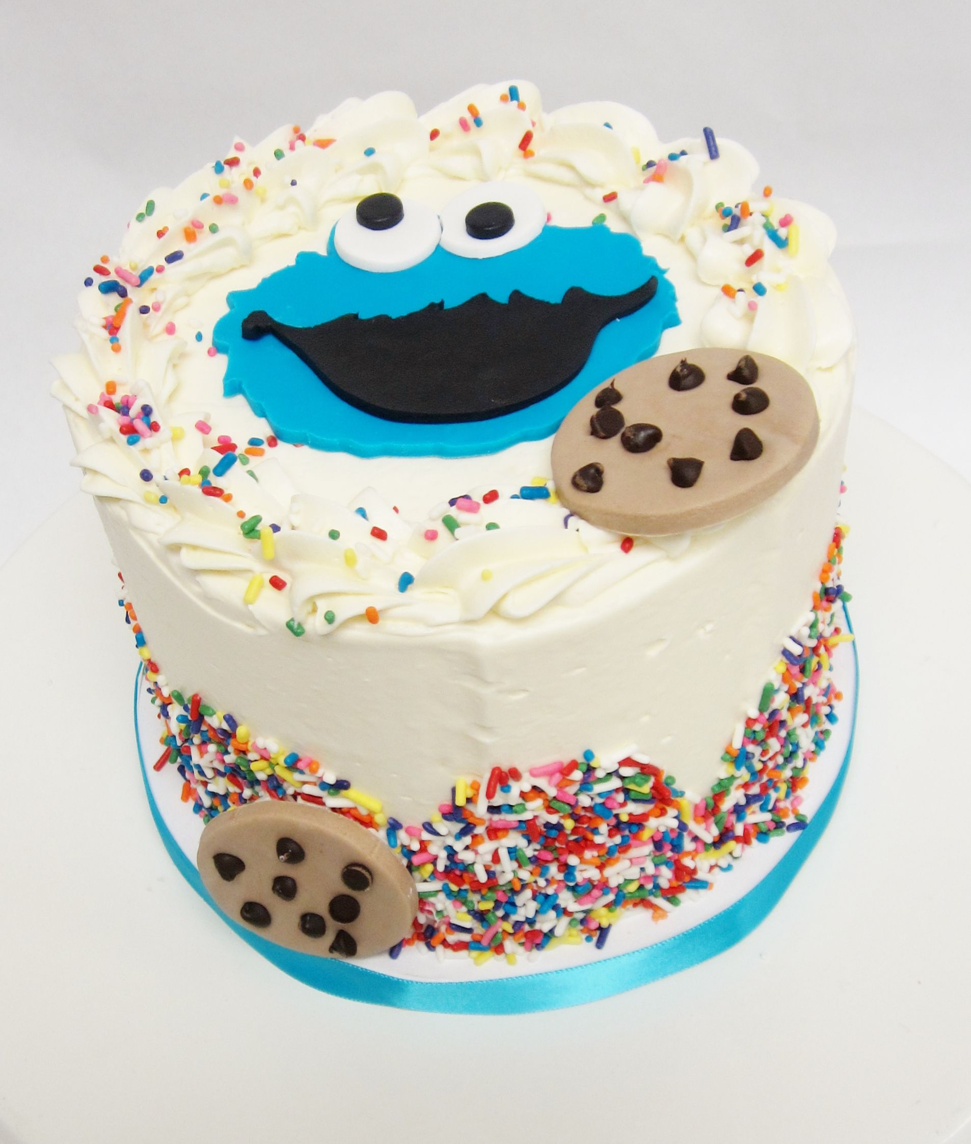 Cookie Monster Birthday cake from Flavor #Cakes made fresh at our ...