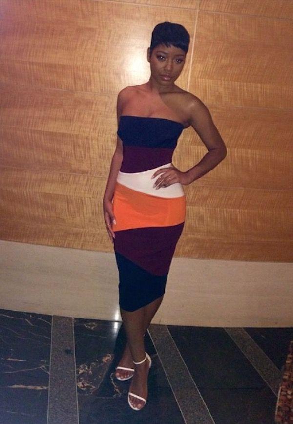 Splurge: Keke Palmer's Instagram Victoria Beckham Multicolored ...