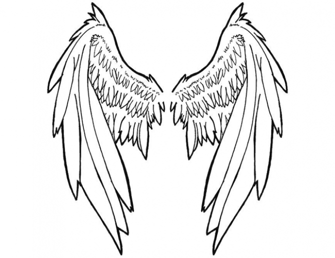 One Line Ascii Art Wings : Large tribal angel wing tattoo s pinterest dessin