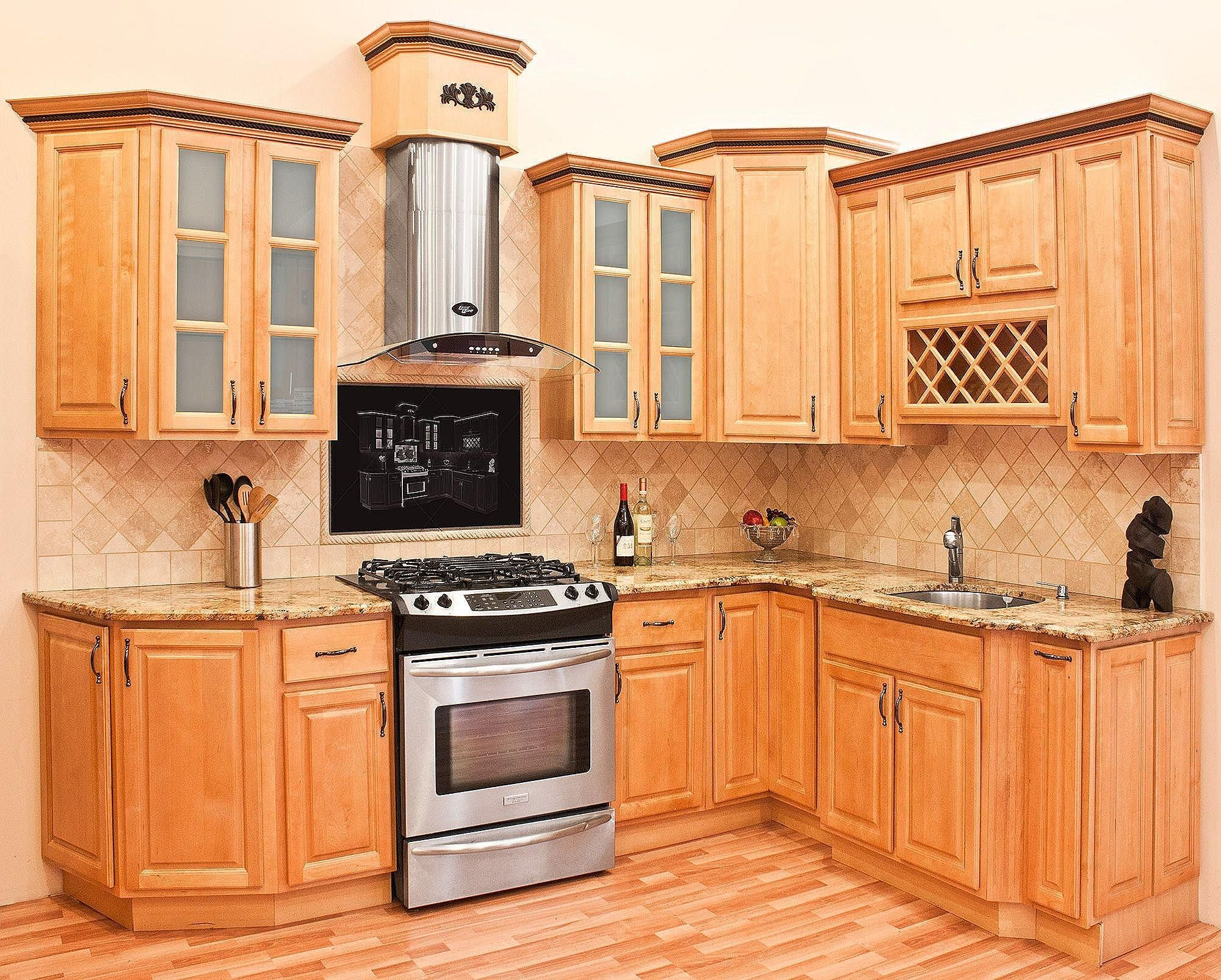 Beautiful Small Kitchen Ideas On A Budget | Kitchen ... on Maple Cabinets Kitchen Ideas  id=25010