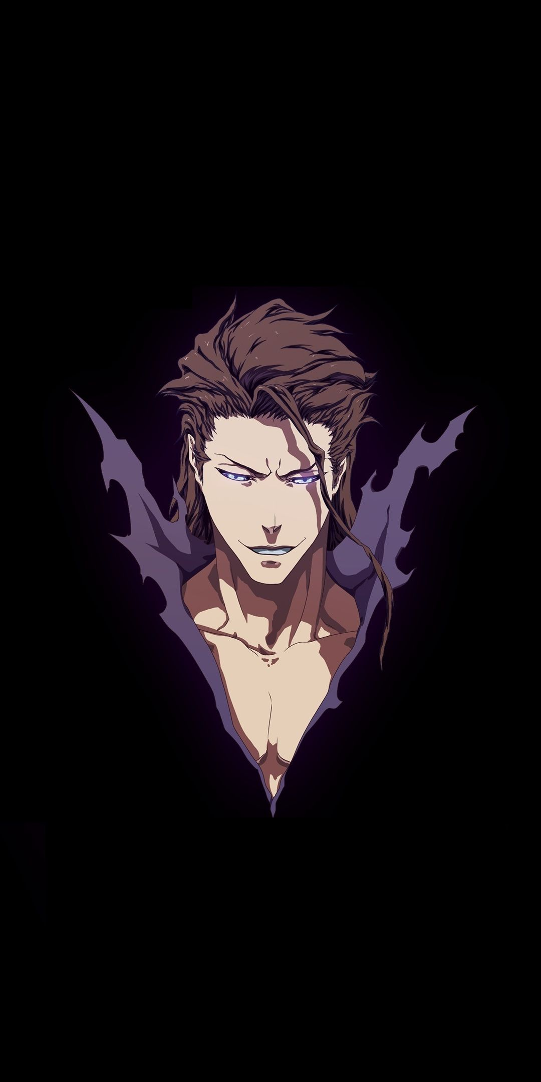 Sōsuke Aizen Bleach Minimal Artwork 1080x2160 Wallpaper
