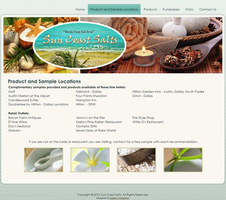 Suncoast Salts in Galveston Web Design Pinterest - sample hotel brochure