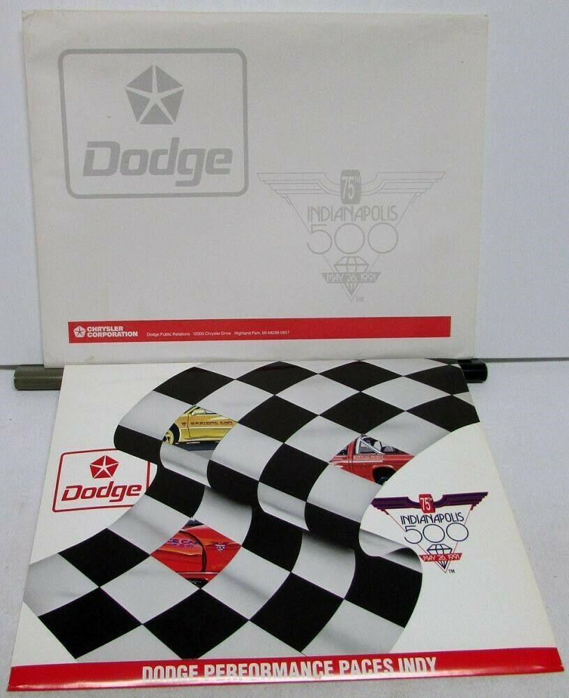 eBay #Sponsored 1991 Dodge Viper Indy 500 Pace Press Kit Media