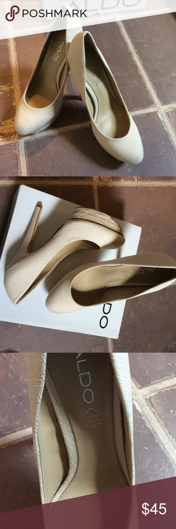 Aldo Karter platform pumps Sexy, brand new, never worn.  Aldo 38 which is 7.5 according to Aldo's size chart.  Comes with box.  Reasonable offers always welcome, not interested in trading. Aldo Shoes Heels