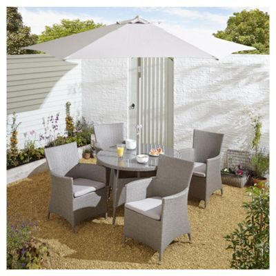 Delicieux Buy Tesco San Marino 6 Piece Rattan Round Garden Dining Set, Grey From Our  Rattan