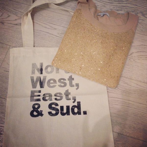 Pull PIVI miel Sud express & sac en toile Sud express sur le blog de MamaFunky