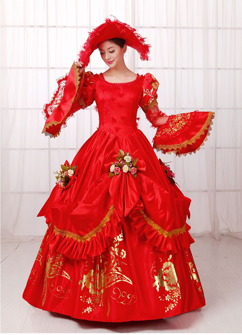 Aliexpress Com Buy Queen Marie Antoinette Inspired Masquerade Ball Gown Bridal Dress Princess Pageant Victorian Ball Gowns Retro Red Dress Masquerade Dresses [ 1093 x 790 Pixel ]