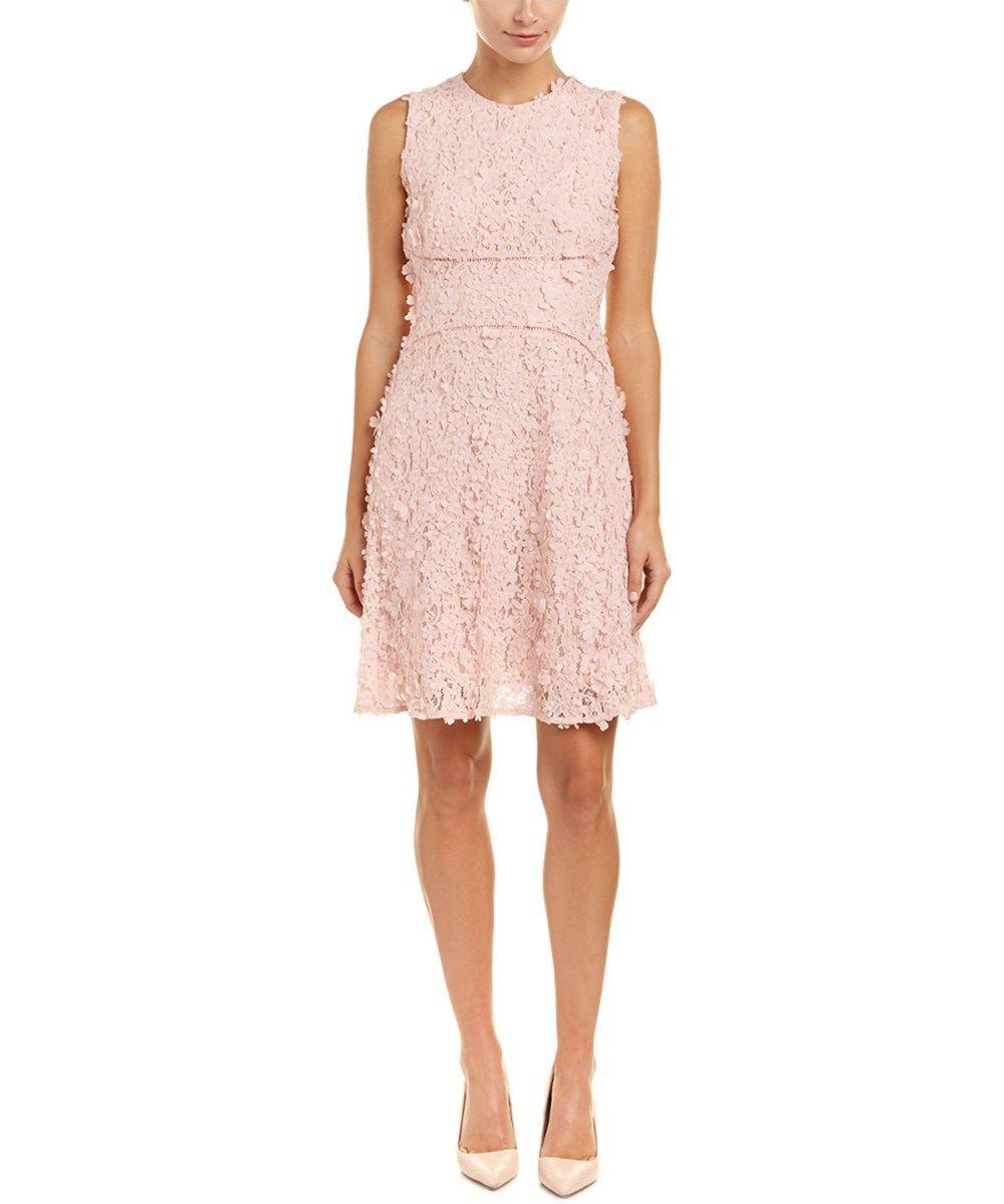 T Tahari A Line Dress In Light Pink Modesens Applique Dress Fit And Flare Cocktail Dress Pink Evening Dress [ 1200 x 1000 Pixel ]