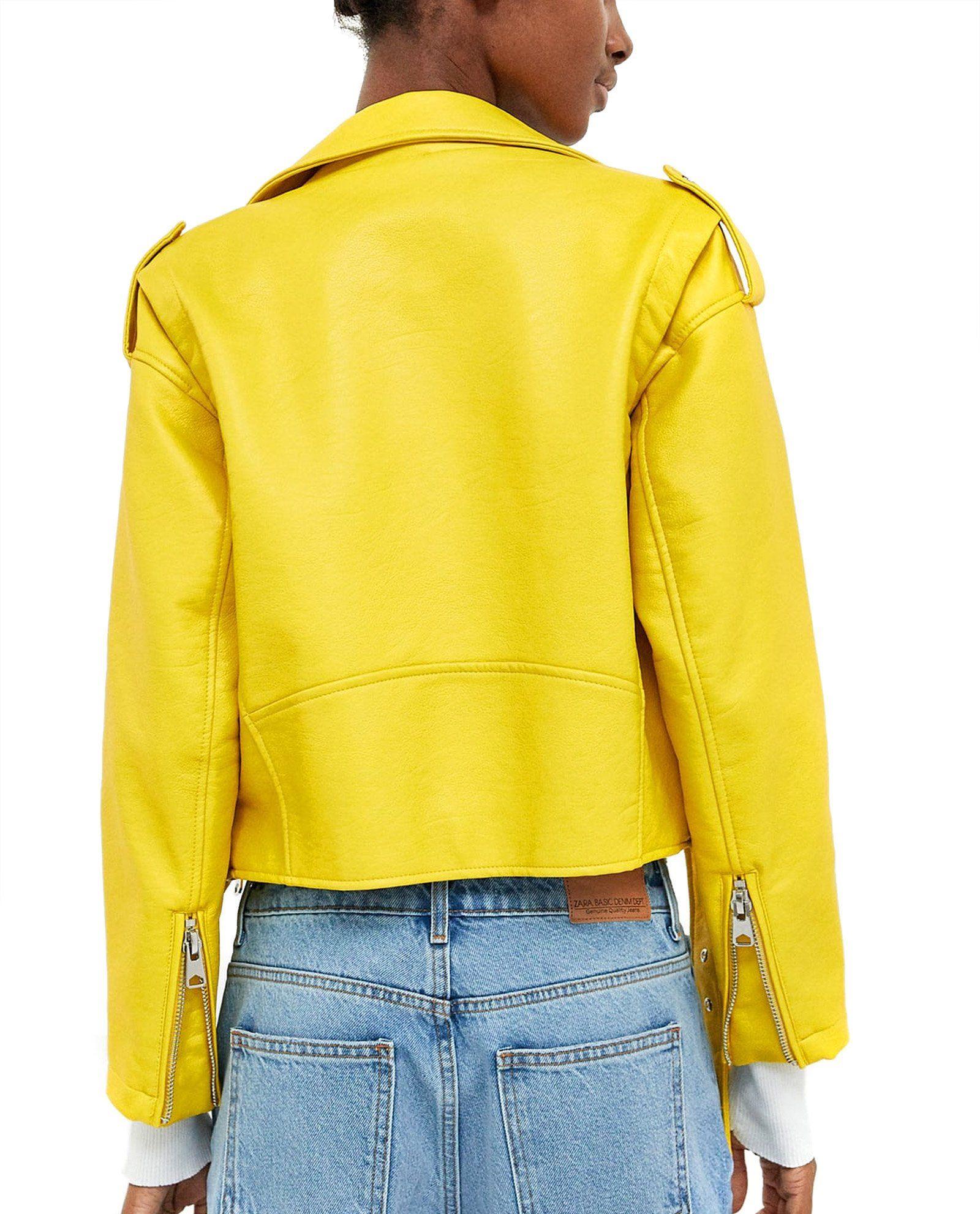Zara Women Faux Leather Biker Jacket 3046/033 XLarge