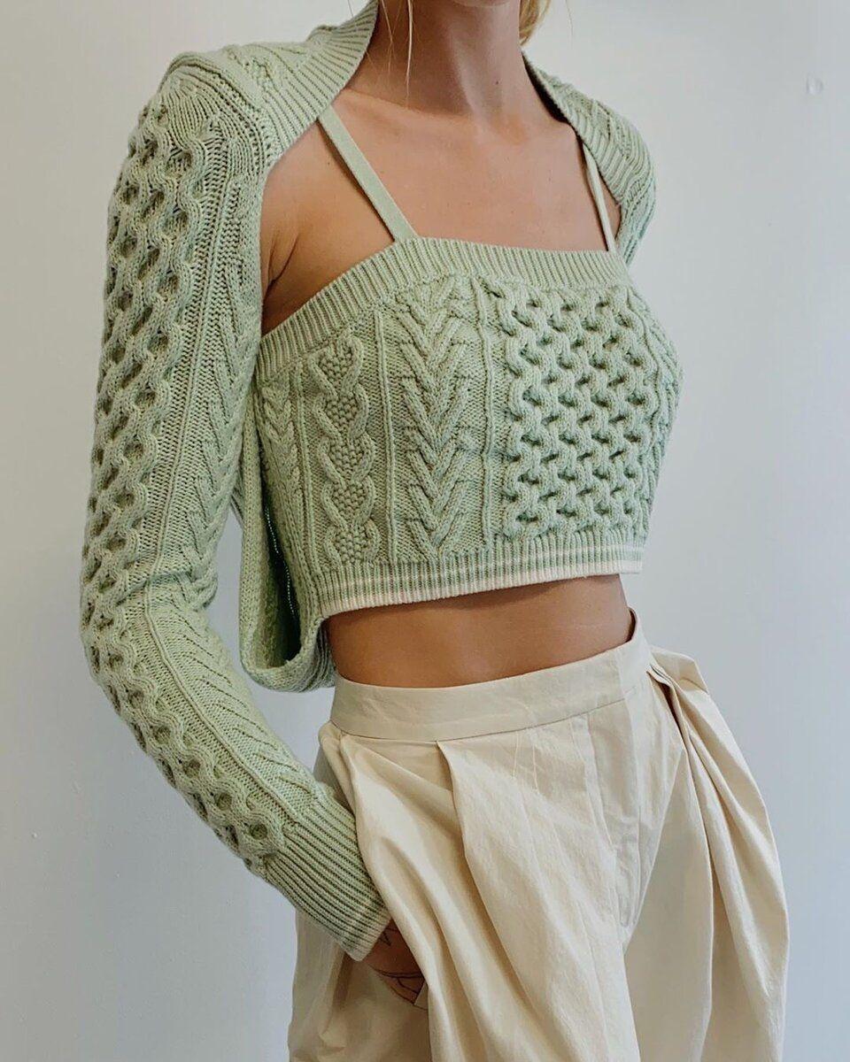 Summer Luxury Haute Couture – Idées de tricot à partir d'iris et de fil de bambou   – DETAILS