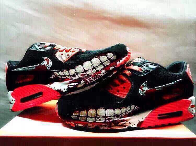 NIKE AIR MAX 90 SHARK ATTACK NIGHTMARE CUSTOM MADE UNISEX SNEAKER