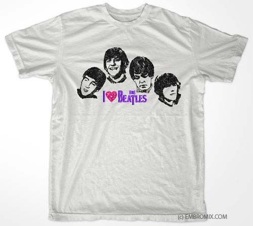 The Beatles Embroidery Design Embroidered Clothes Pinterest