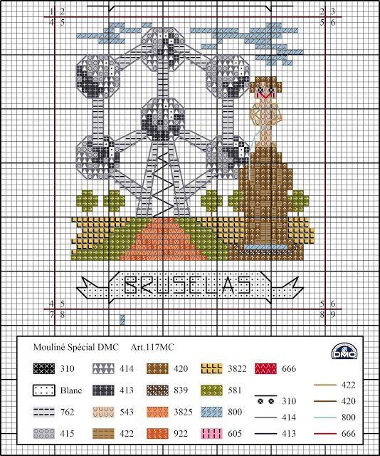 Viaje por Europa: Bruselas (El blog de Dmc) | punto cruz | Pinterest ...