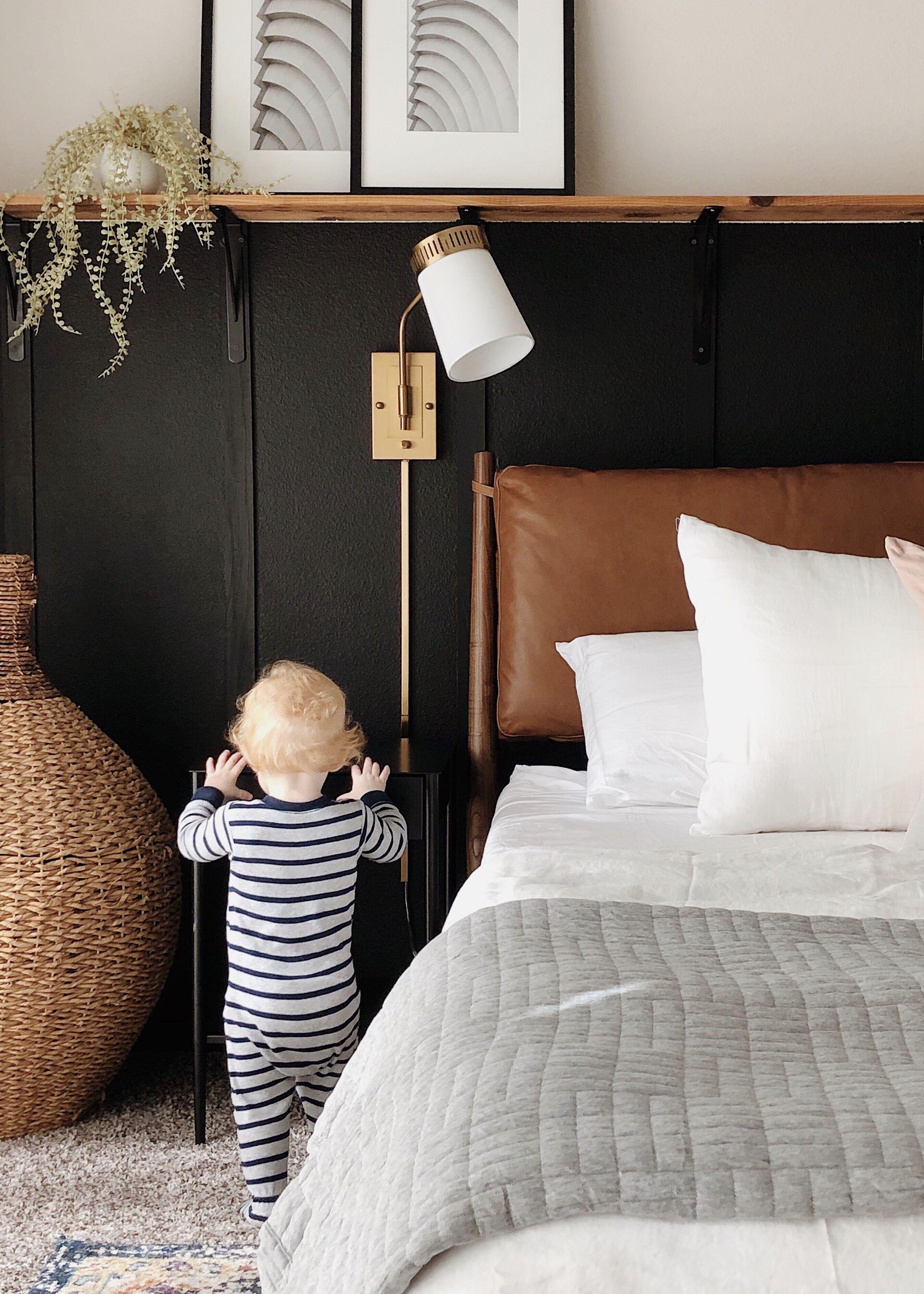 Pretty Olive Instagram Diy Accent Wall Master Bedroom Inspiration Chic Bedroom Design Bedroom Interior