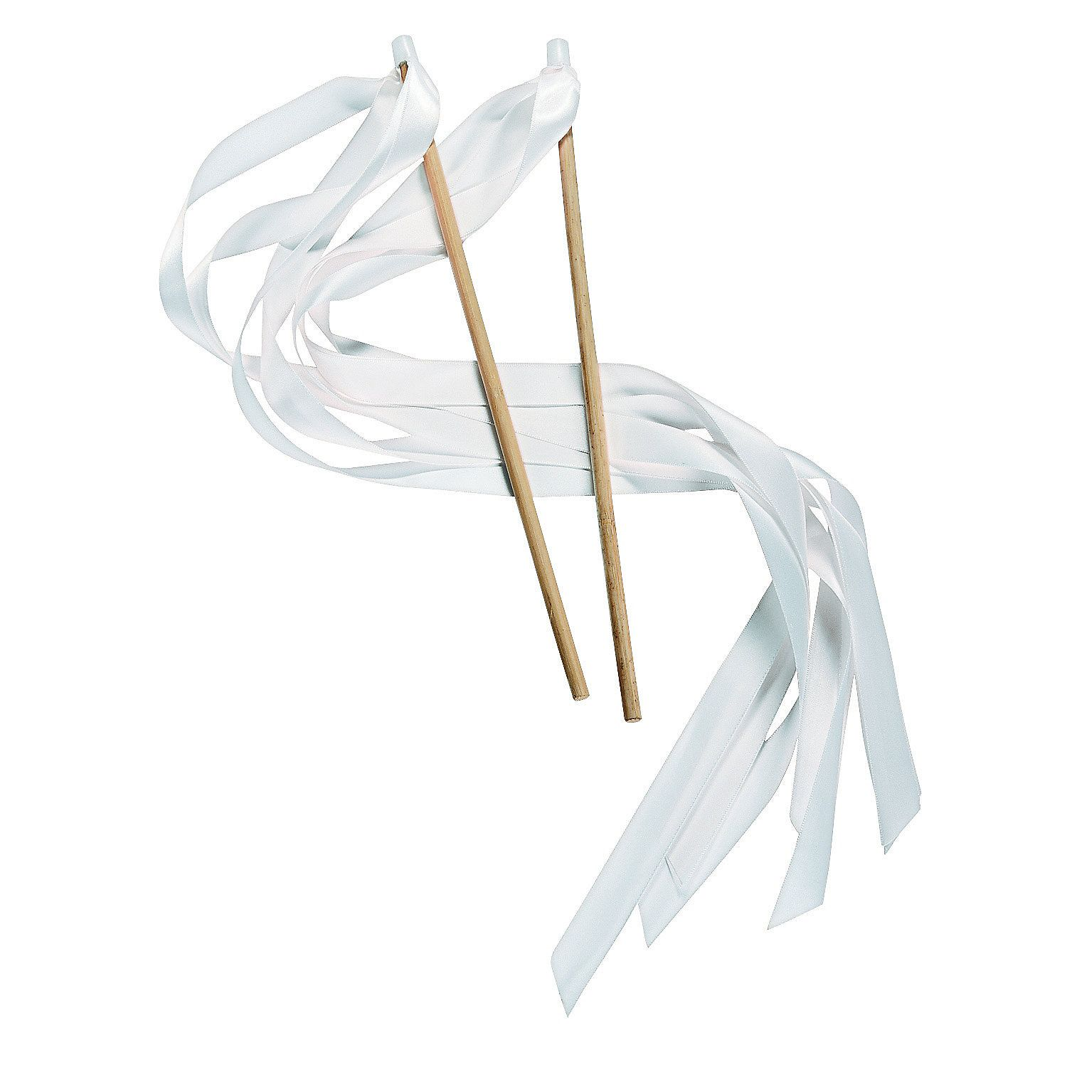 White Ribbon Wands (With images) Wedding ribbon wands