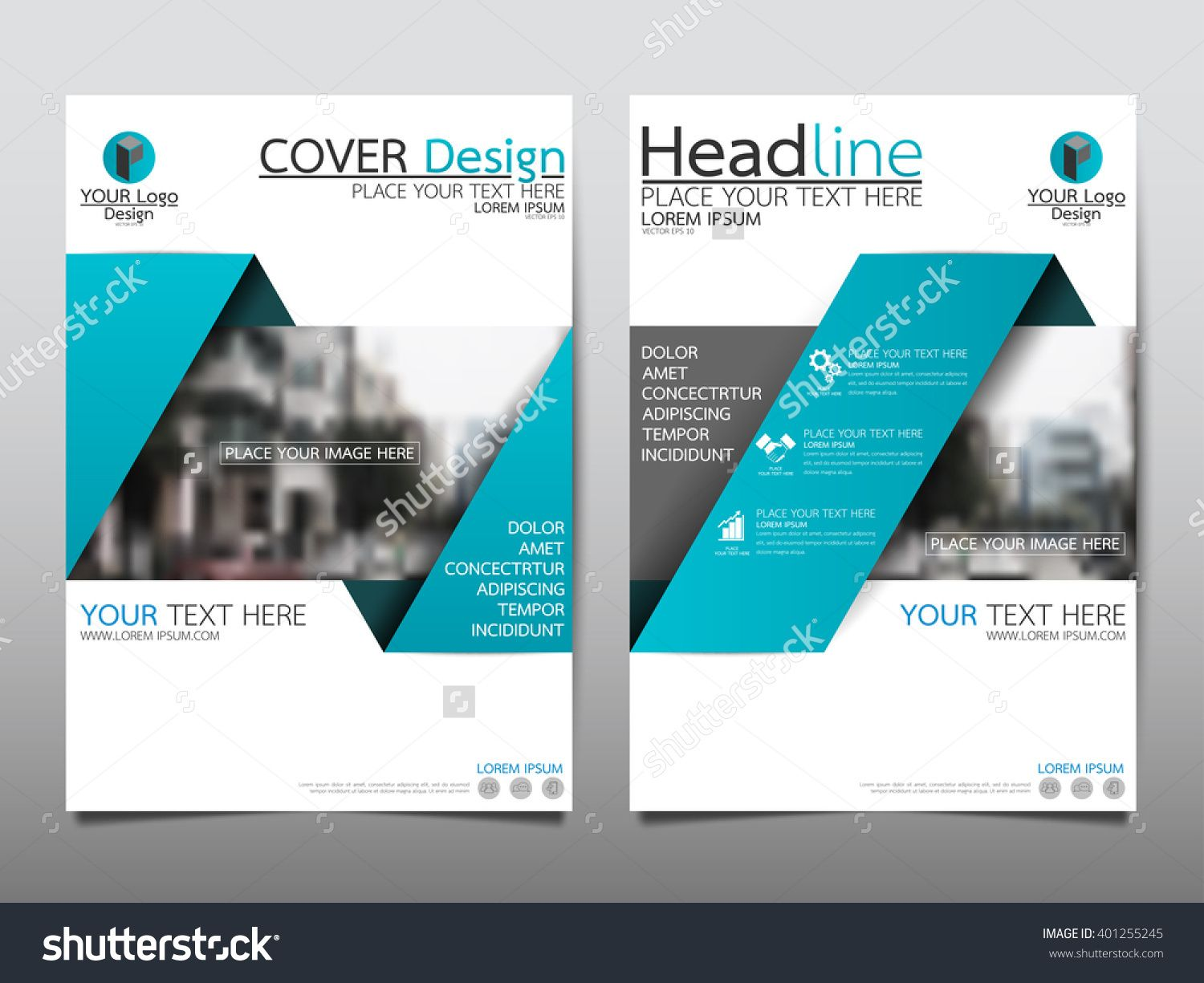 Blue Annual Report Brochure Flyer Design Template Vector, Leaflet Cover  Presentation Abstract Flat Background,  Annual Report Template Design
