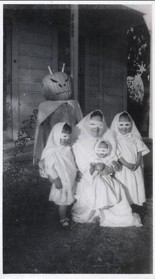 Halloween Ghost Photos Old Halloween Costumes Creepy Vintage