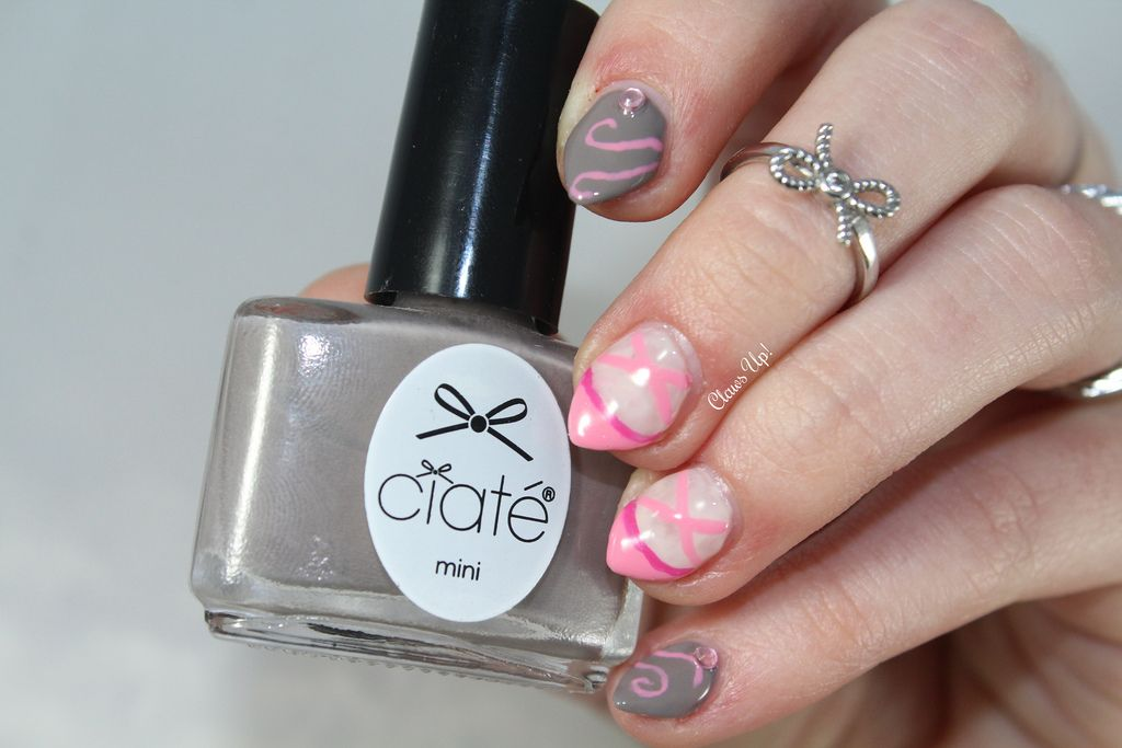 Ciate Prima Ballerina And Ballet Shoe Nail Art Claws Up My Nails