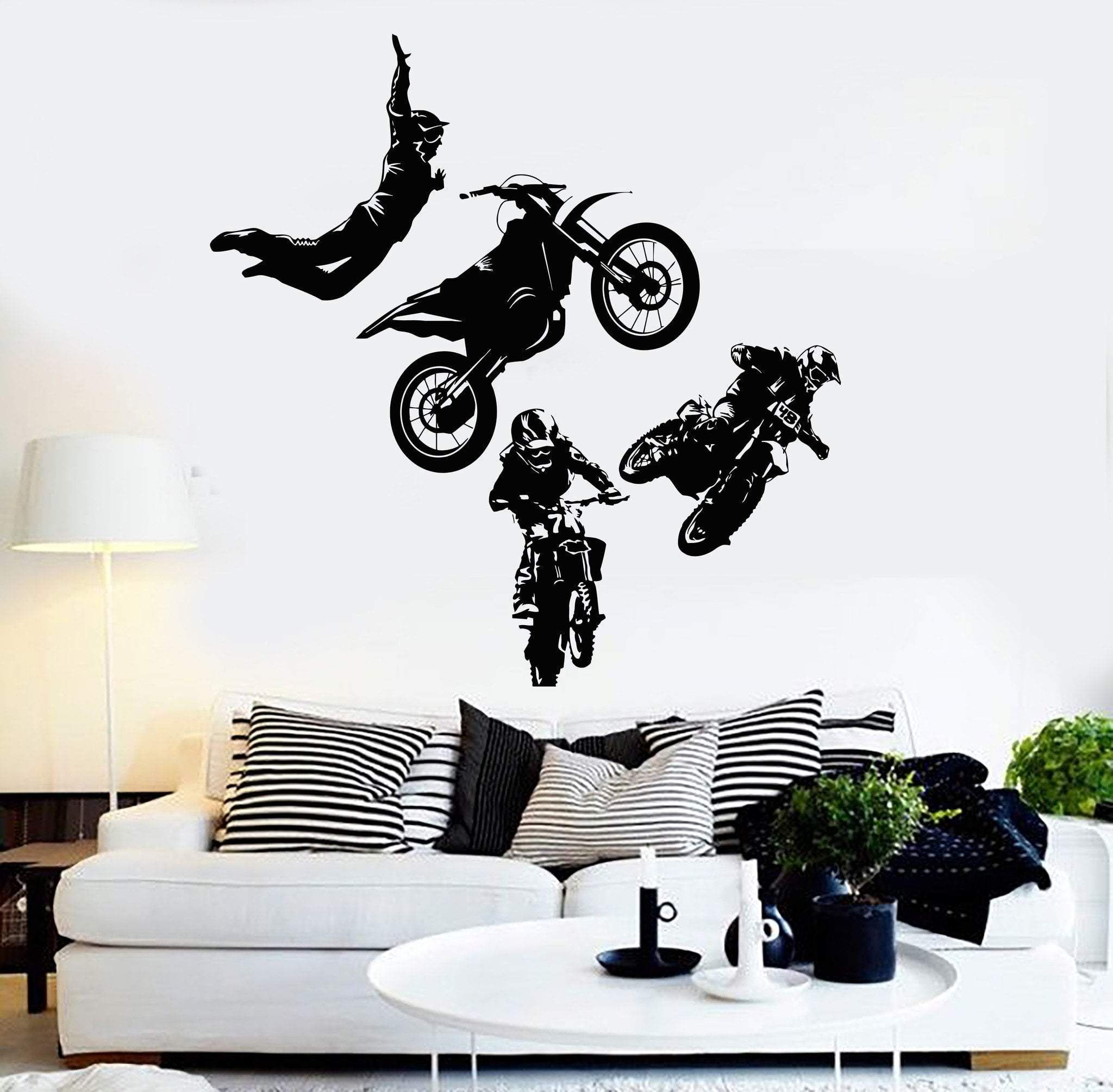 Vinyl Wall Decal Freestyle Motocross Motorcycle Racer
